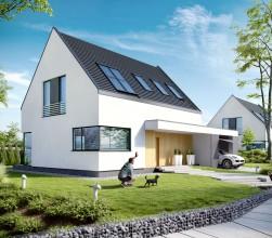 Projekt domu - nowoczesna forma  Klient: visualformData realizacji: Listopad 2013r. Wizualizacje projektu domu nowoczesnego na potrzeby visualform.